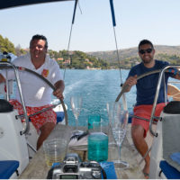 Guests can sail the yacht, day sailing near Split, Croatia
